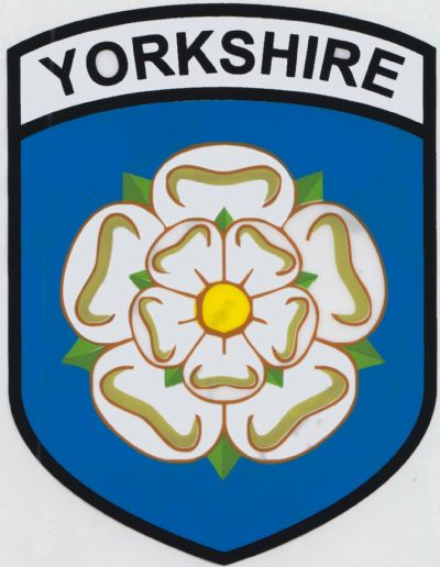 Yorkshire rose county flag car sticker shield self cling